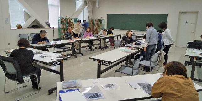 枝川真理の鉛筆画教室の模様10月 26日