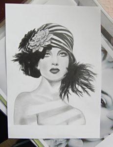 鉛筆画、練習