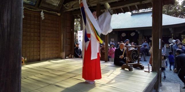 天が岡、若宮神社の新年祭り1