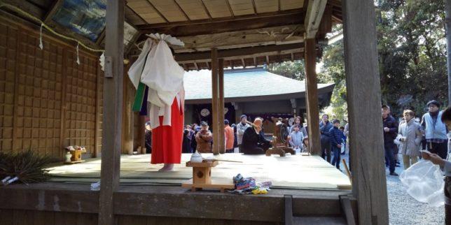天が岡、若宮神社の新年祭り2