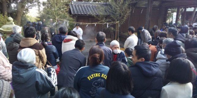 天が岡、若宮神社の新年祭り3