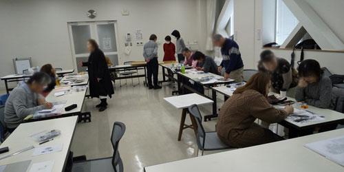 鉛筆画教室の模様