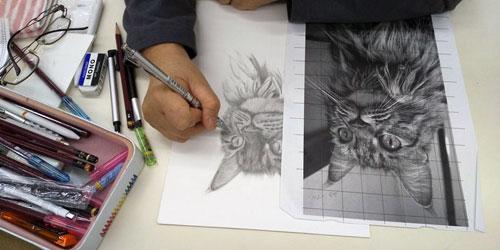 枝川真理の鉛筆画教室練習風景3