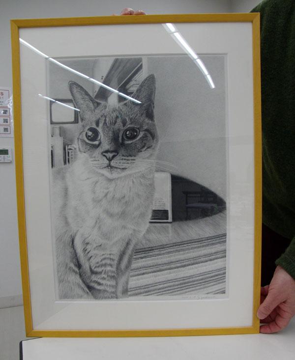 鉛筆画作品吉村さん