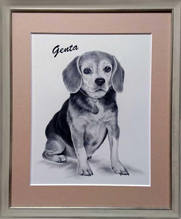 ペットの絵 鉛筆肖像画 リアルペットの絵