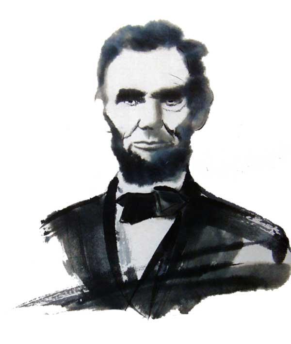 枝川ヒロシ 心の絵 リンカーン
