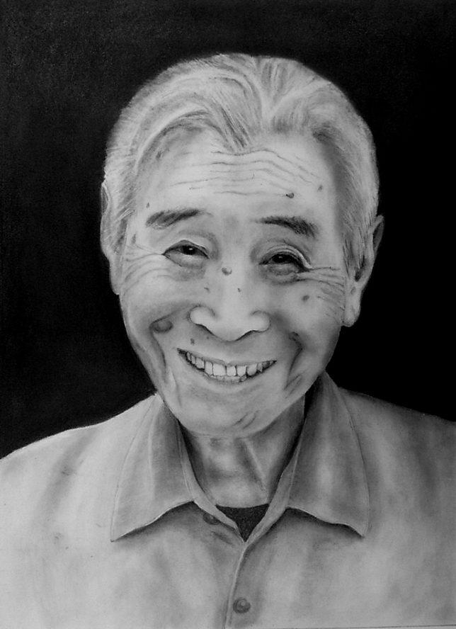 枝川真理の鉛筆画教室 ご本人の肖像画