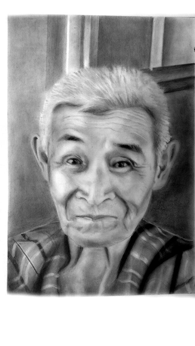 枝川真理の鉛筆画教室 兄の肖像画