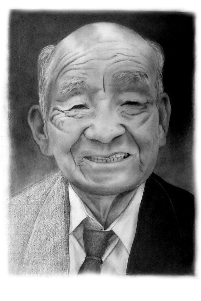 枝川真理の鉛筆画教室 いとこの肖像画