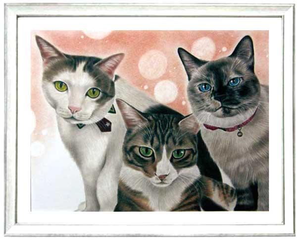 猫の絵 制作、注文 作者 枝川真理