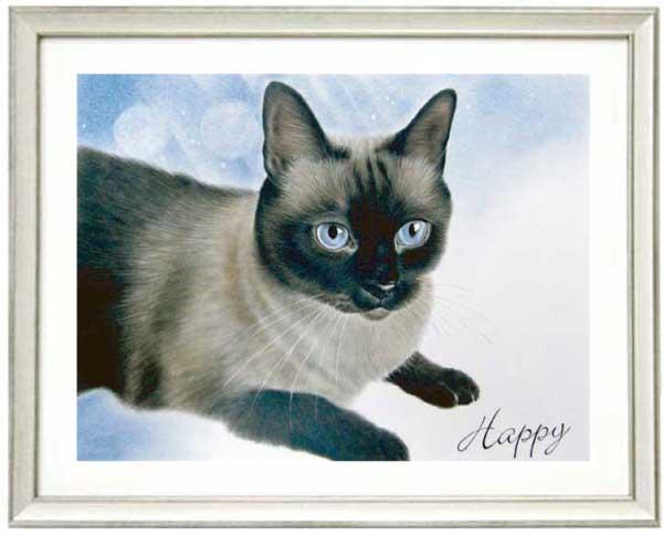 愛猫のリアル絵 作者、枝川真理